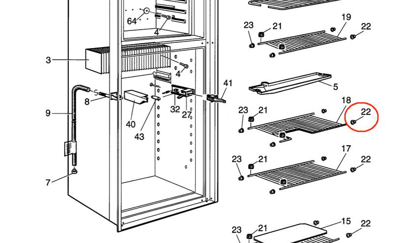 Dometic Shelf Plug (right side) 2932101013