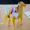 Pen ruler, card holder, phone holder on the desk, gift ideas for teen boys, modern leather horse desk accessory