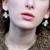 Christin Ranger Sterling Silver Cherry Blossom Earrings