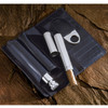 black leather cigar and cognac set for gentleman, great gift for business men, gift ideas for cigar lovers,  cigar cutter, cigar holder and cognac set