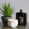muse porcelain candle holder, skinny hip flask, best small candle holders