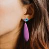 Fruits of paradise earrings, CZ earrings