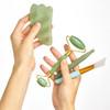 jade guasha set, natural jade, eco friendly massage set, face beauty jade roller