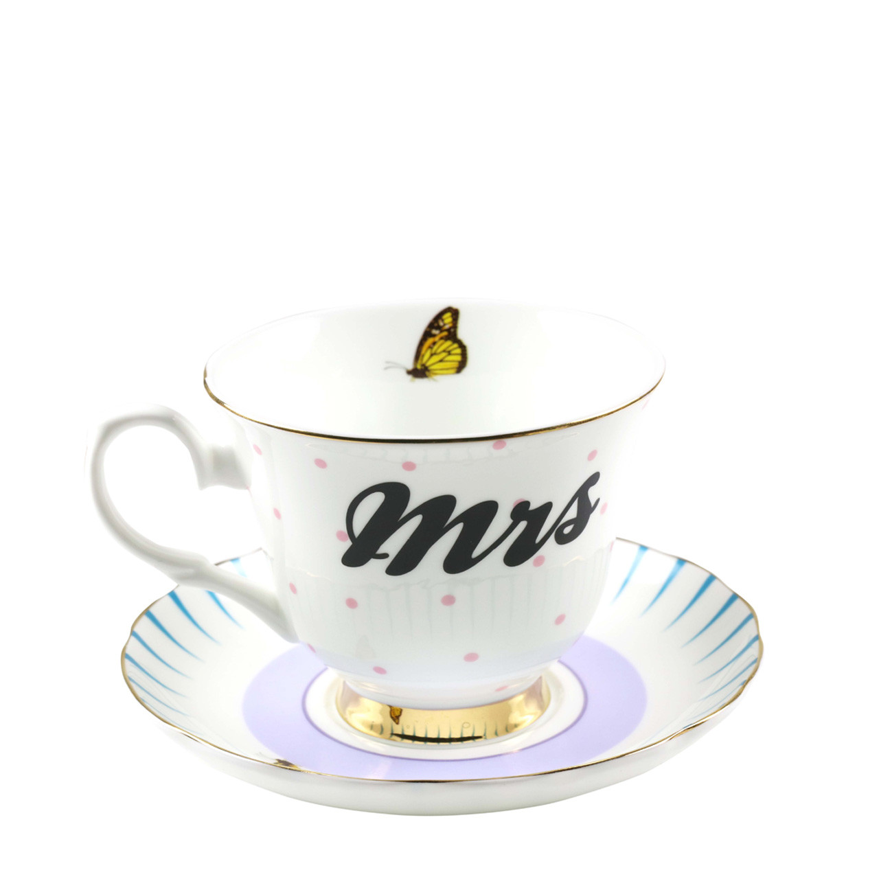 Mrs Teacup Saucer 280 Ml Giftbori