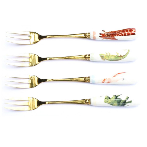 Yvonne Ellen Set of 4 Safari Animals Cake Forks