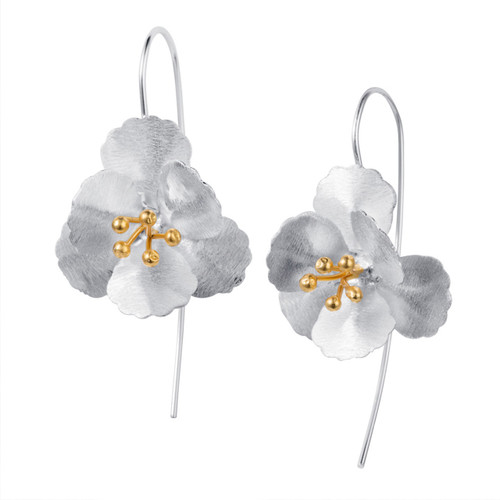 Christin Ranger Sterling Silver Cherry Blossom Earrings