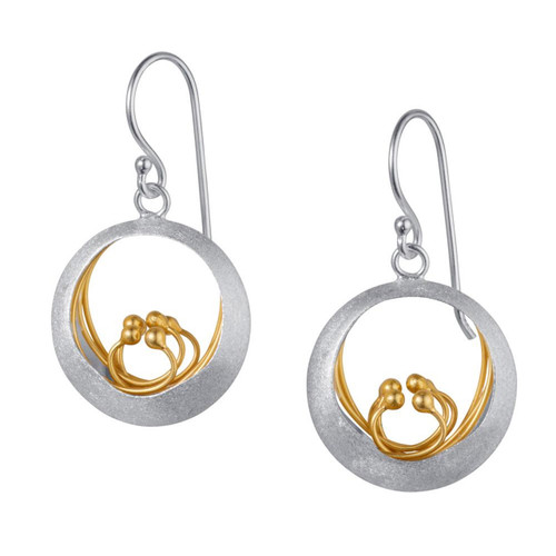 Christin Ranger Sterling Silver little water feauture Earrings