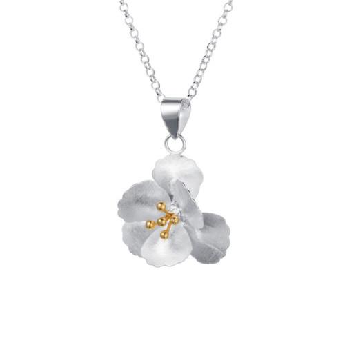 Christin Ranger Sterling Silver 18 carat Gold Plated Cherry Blossom Pendant