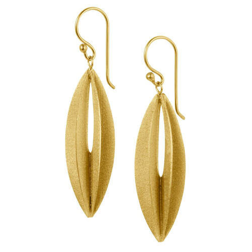 Christin Ranger Gold Plated Sterling Silver Elliptic earrings