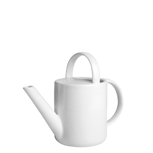 porcelain watering can, perfect gift for gardener, simple white small watering can, useful housewarming gift