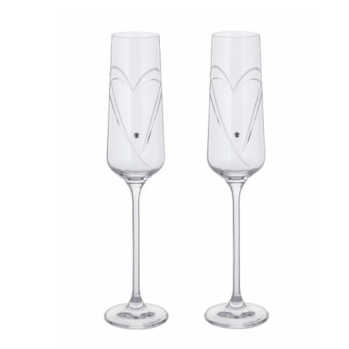 Champagne Flutes with Swarovski crystals, 50th wedding anniversary gifts, thoughtful gifts ideas, anniversary gift ideas for couples, anniversary gifts for couples