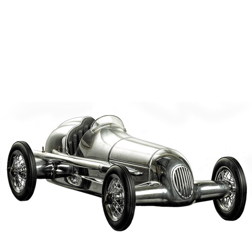 Desktop executive gift, Silberpfeil Aluminium Racing Car, perfect gift for husband, perfect gift for someone who loves to decorate the house, unique racing car gift model, thoughtful gift ideas