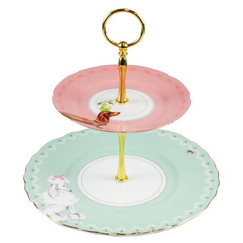 Two Tier Cake Stand, retro cake stand, cake stand for dog lovers, sausage cake stand, poodle cake stand, great gift ideas for grandmother, top mother's day gifts for her,  gifts for her birthday, gifts for grandparents,  anniversary gift ideas,   gifts for girlfriend who loves to bake