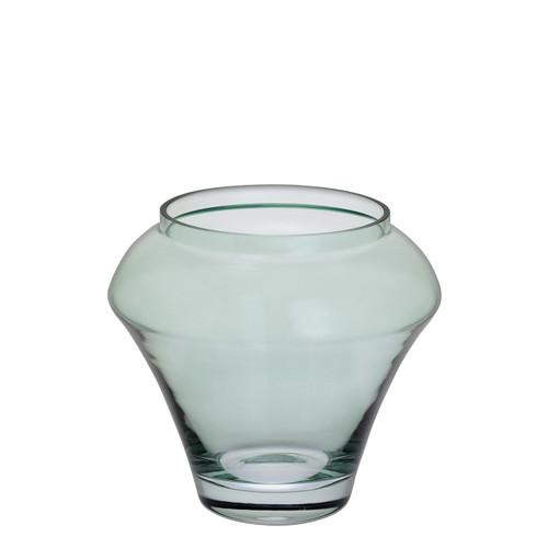 Deco Green Vase, modern glass vase, great birthday gift, gift ideas for her