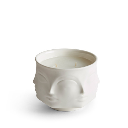 white porcelain muse flower candle, fresh floral flower candle, perfect gift for the hostess