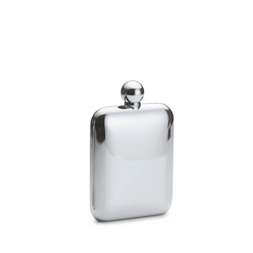 polished stainless steel churchill hip flask, cool hip flask, useful gift ideas