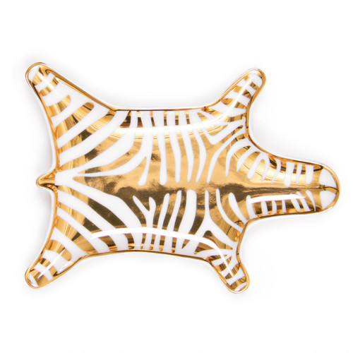small gift ideas, zebra tray to display jewelry, small tray for coins, gold dish for keys, home decor accessories