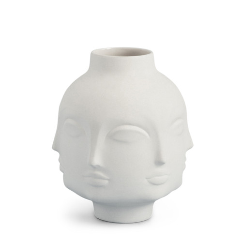 vase inspired by Dora Maar, gift ideas for 30th birthday anniversary, multi face white vase