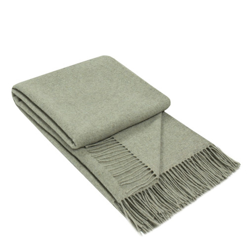 merino wool cashmere grey throw