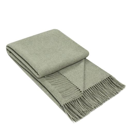 merino wool cashmere grey throw