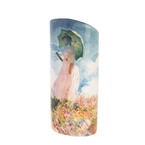 Ceramic Vase Monet - Woman with a Parasol