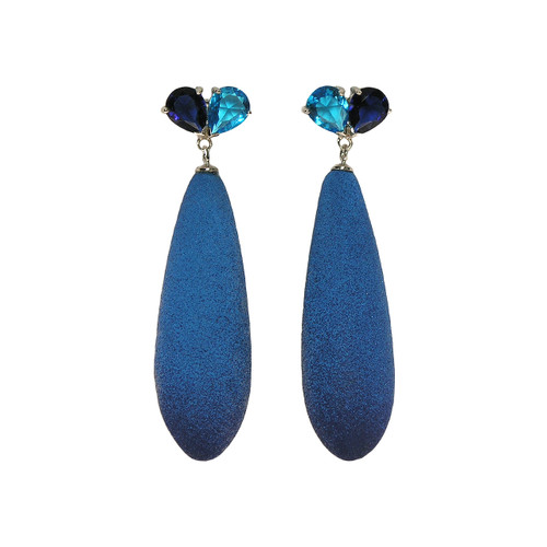 Fruits of paradise earrings, blue earrings