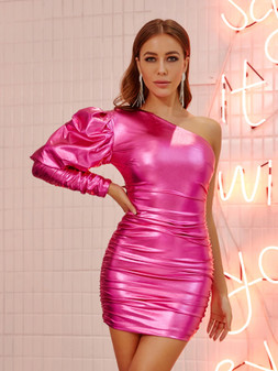METALLIC PINK DRESS