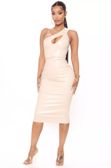 oversize pvc dress