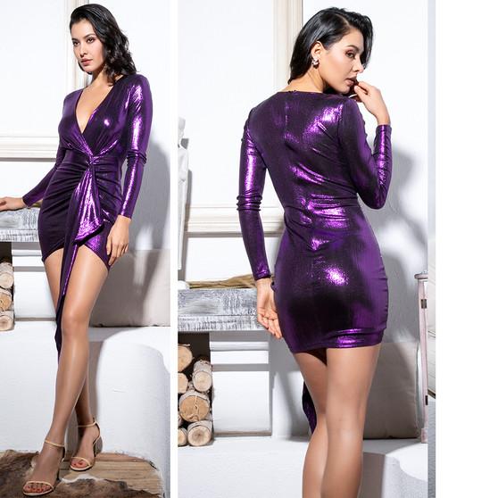 purple sash dress
