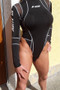 Black Spandex Turtleneck High Cut Thong Long Sleeved Bodysuit