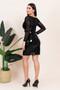 Vinyl PVC Cutout Mesh Black Mini Dress