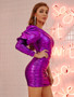 sexy purple dress
