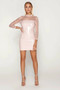 Mesh Sheer PVC Vinyl Pink Wetlook Mini Dress