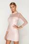 pink vinyl dress