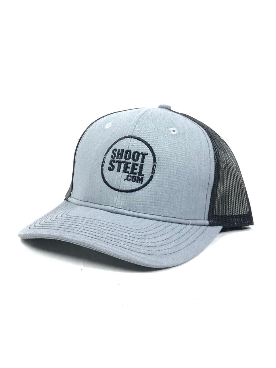 ShootSteel Black/Grey Snap Back Trucker Hat