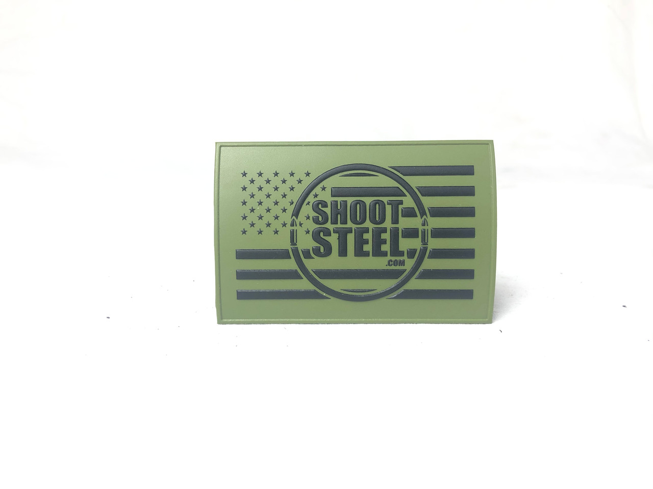 "ShootSteel.com 3""x2"" OD Green Morale Patch"