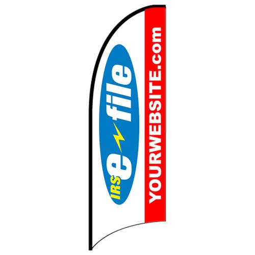 eFile Tax Feather Flag custom design template