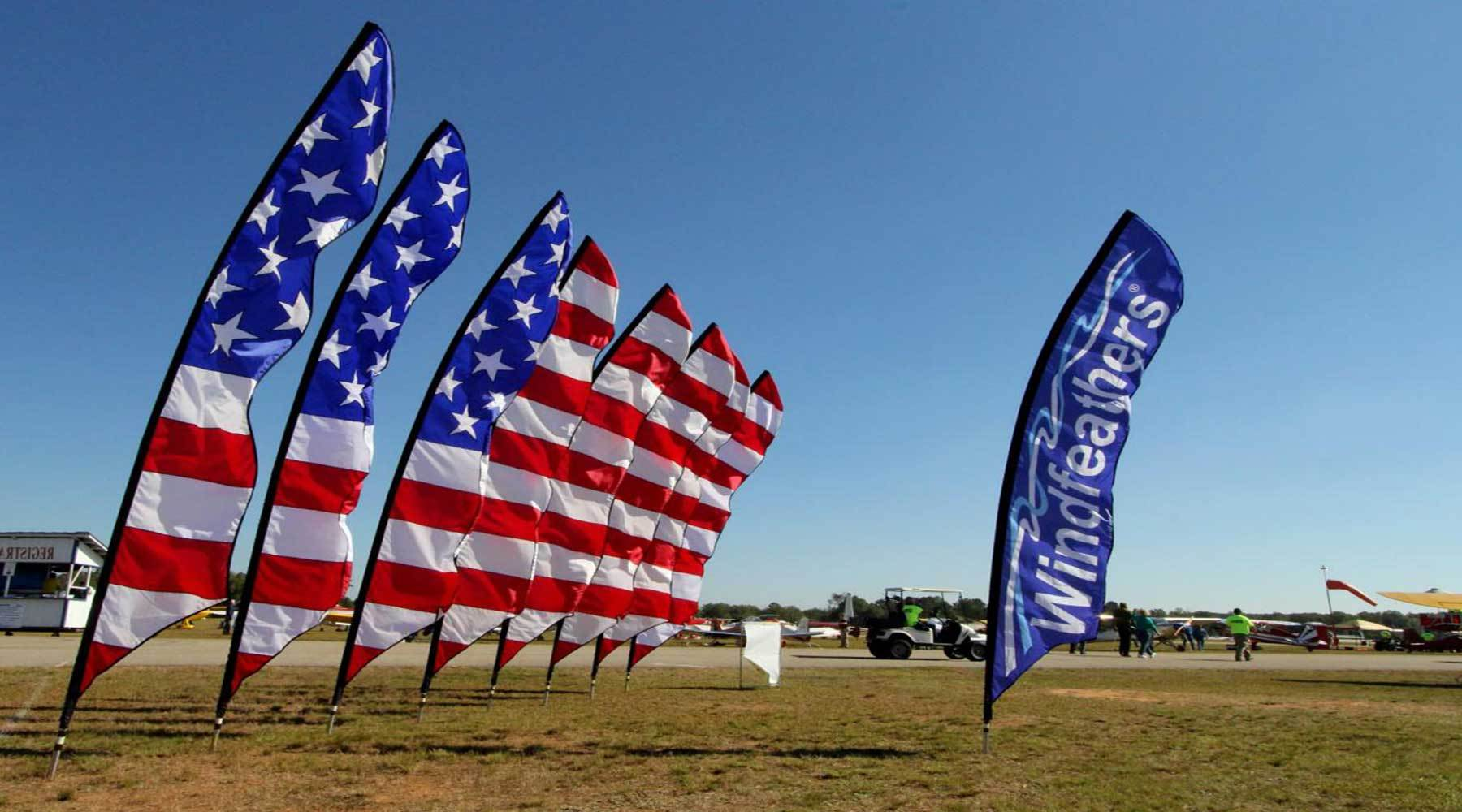 Feather Flags - United States flag banners custom printed
