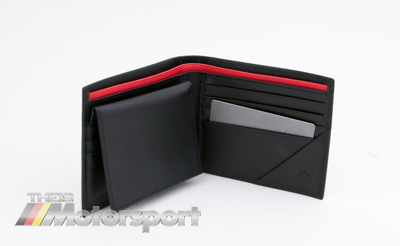 BMW ///M Power Black Leather Bifold Wallet