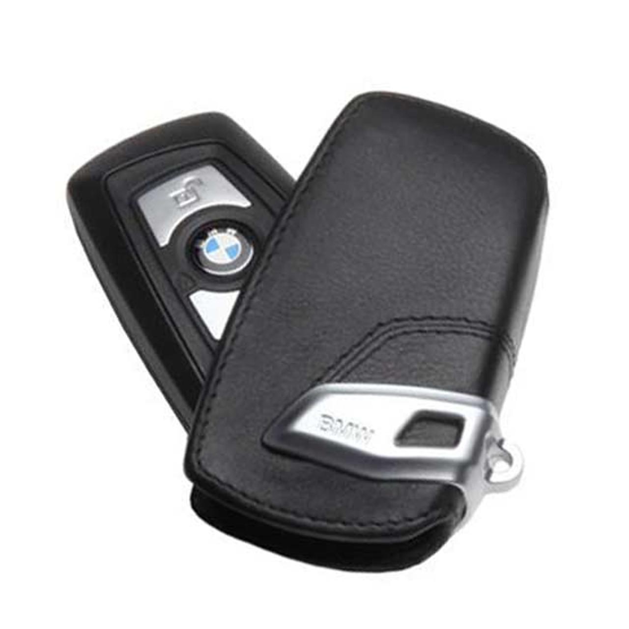 BMW Basic Line Black Key Case FOB Holder - 2012 & Up