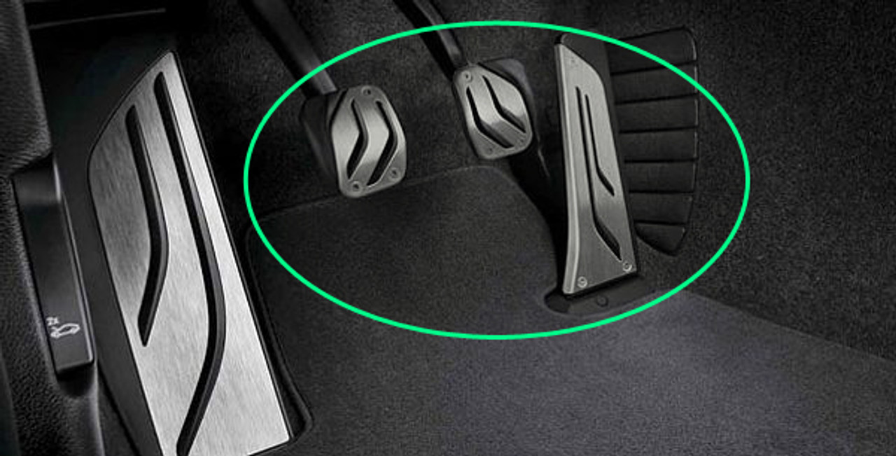 dilei No Drill Anti-slip AT//MT Fuel Gas Brake Pedal Cover For BMW M2 E87 M3 F80 E46 E90 E92 E93 M4 F82 F83 M5 F10 F11 E60 E61 M6 F12 F13 E63 E64 AT 2PC