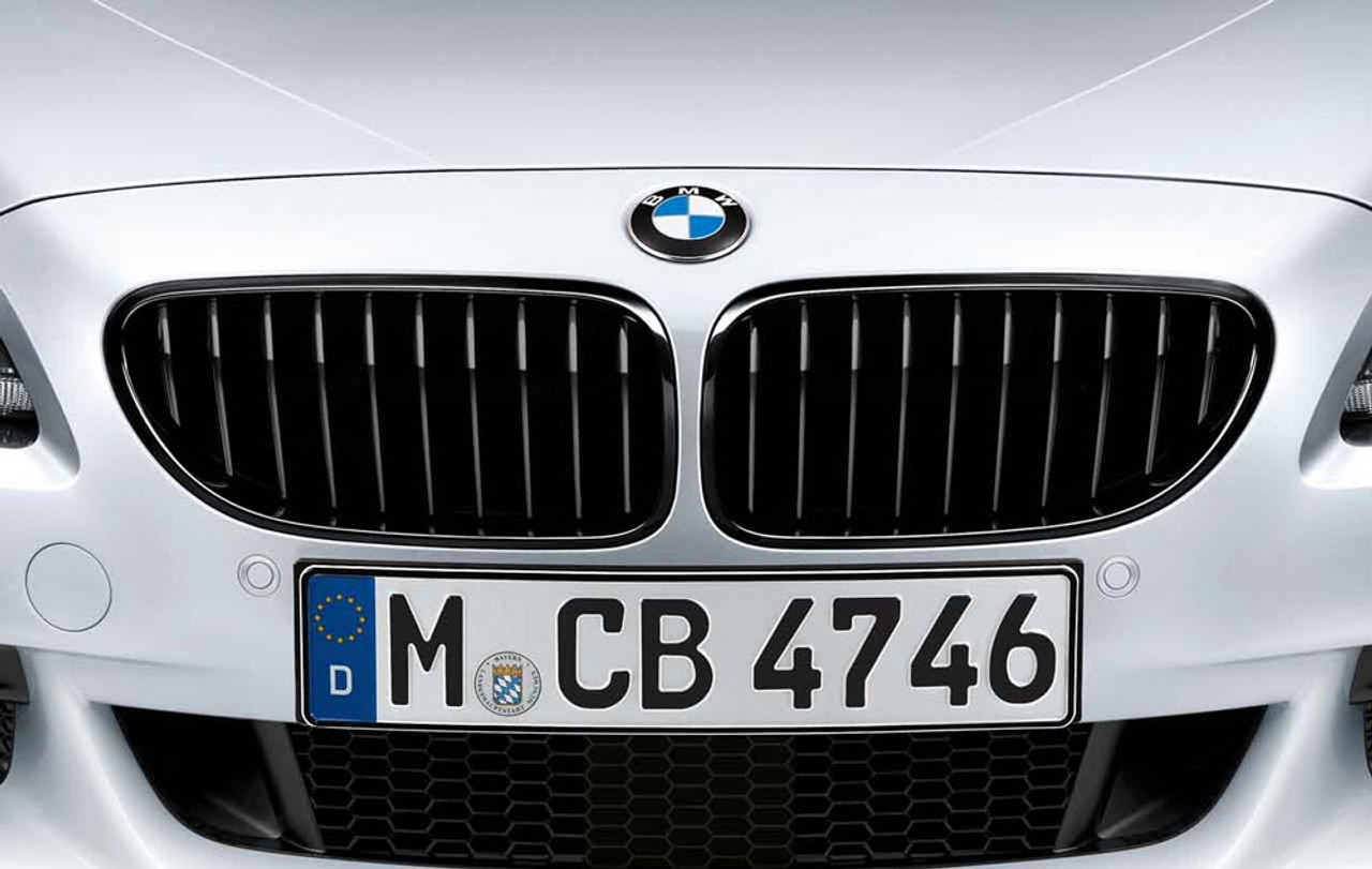 BMW M Performance Black Kidney Grille SET for 6 Series