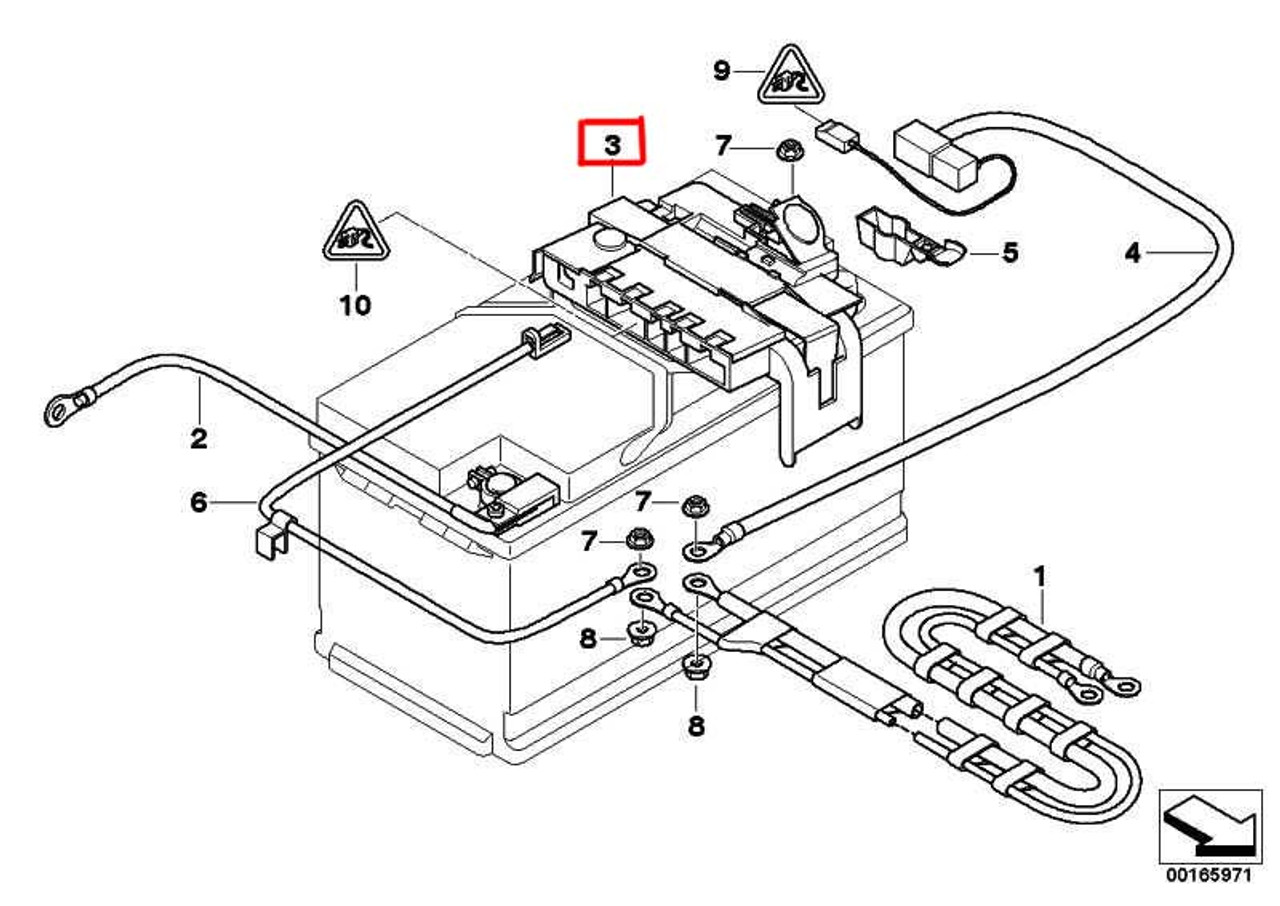 Genuine Bmw Battery Power Distribution Box With Fuse 61146971370