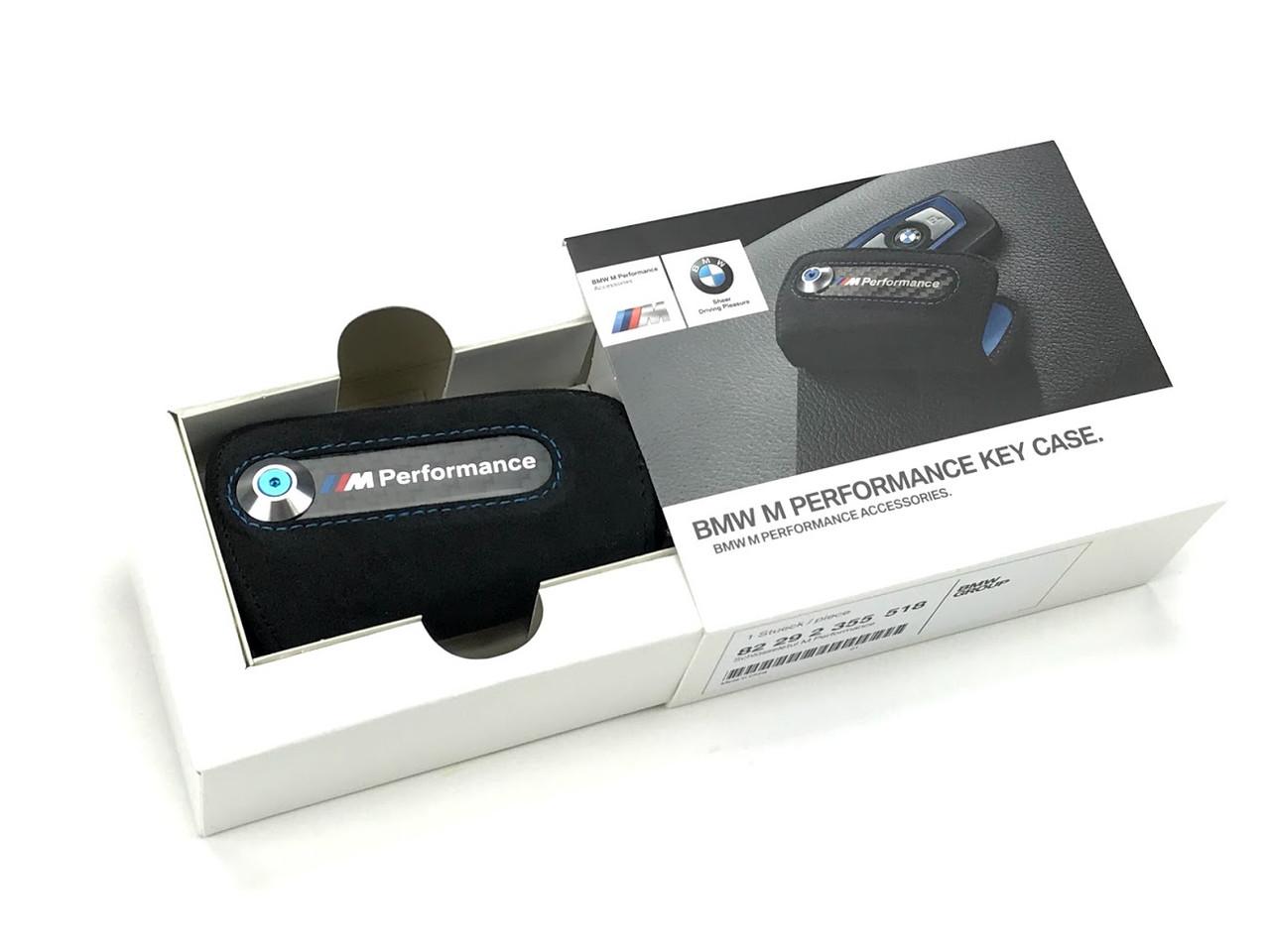 Genuine BMW M Performance Key Case FOB Holder - Black Alcantara & Carbon Fiber 82292355518