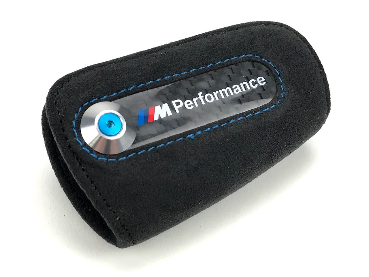 BMW Genuine M Performance Key Fob With Black Alcantara Case 82292355519