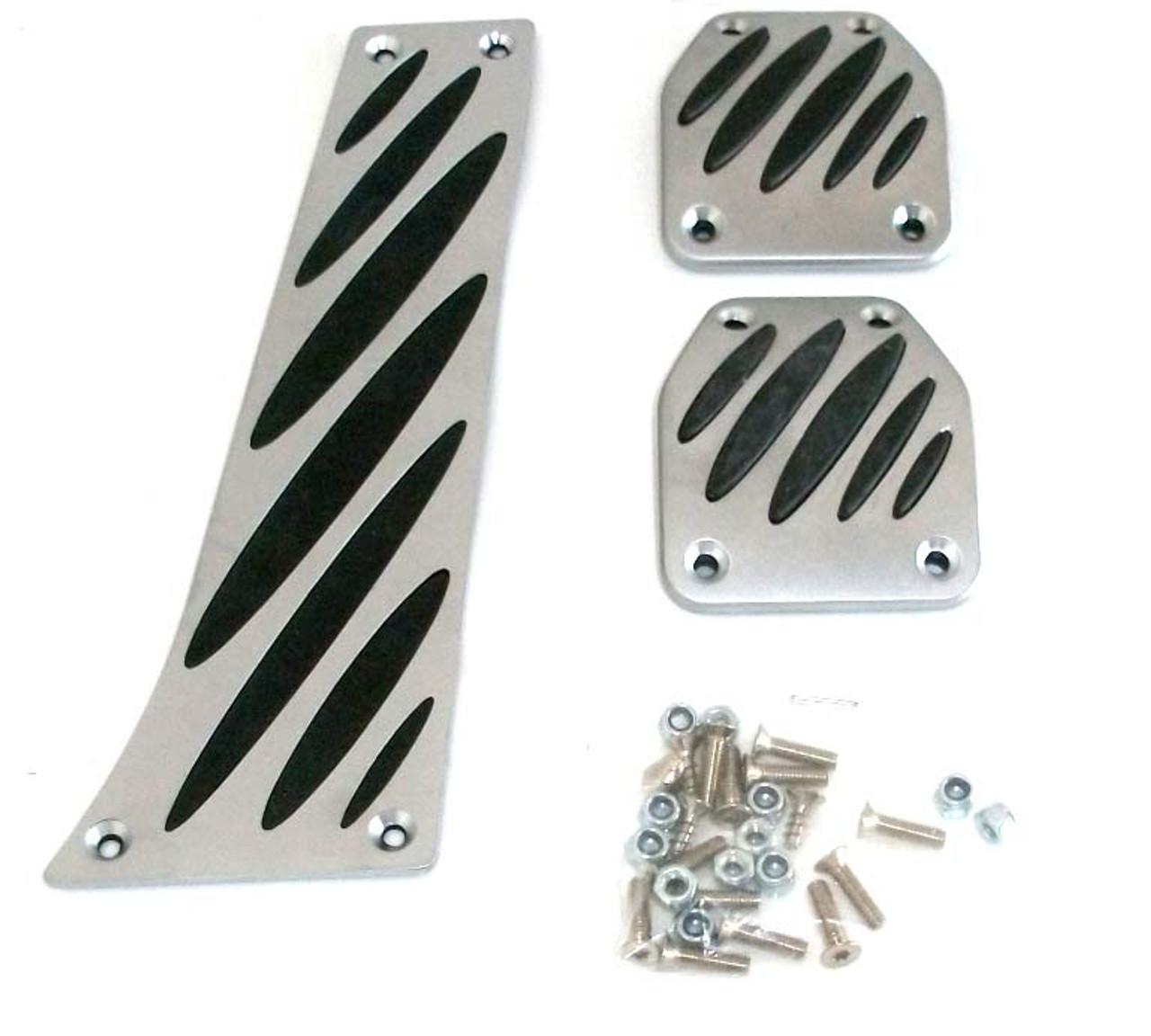 Genuine BMW Aluminum Pedal Pad Overlay Set for Manual Transmission 35002213213
