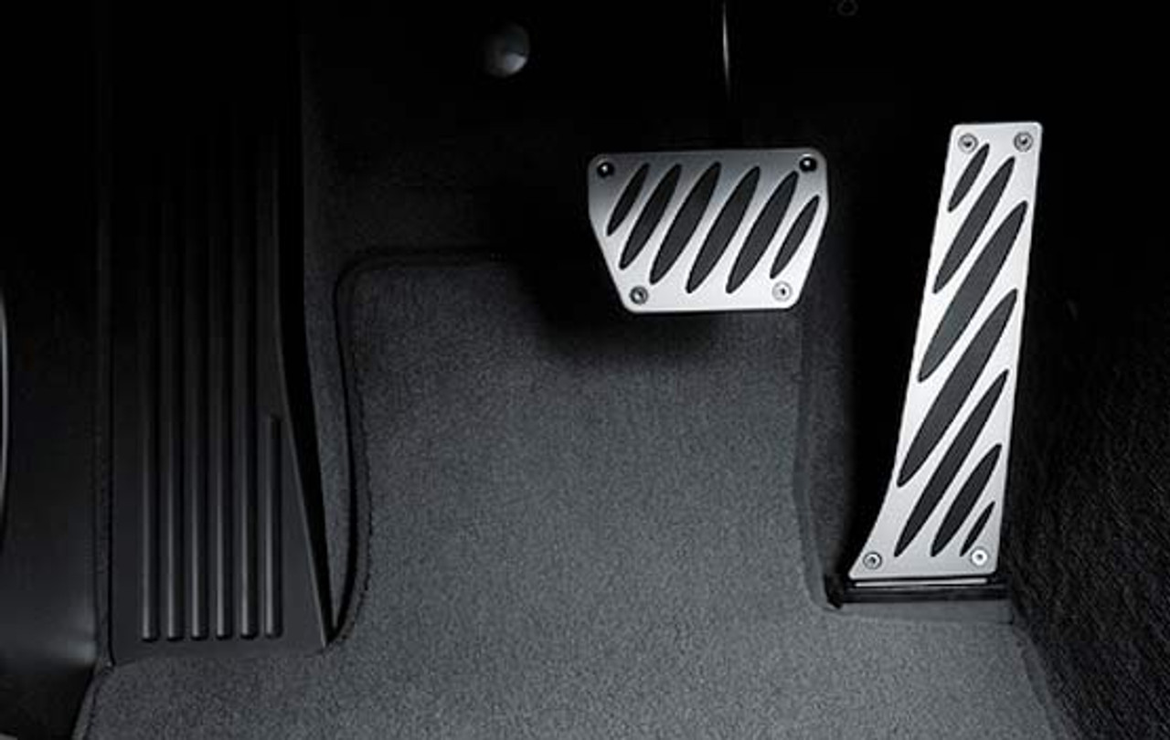 BMW Aluminum Pedal Pad Overlay Set for Automatic Transmission