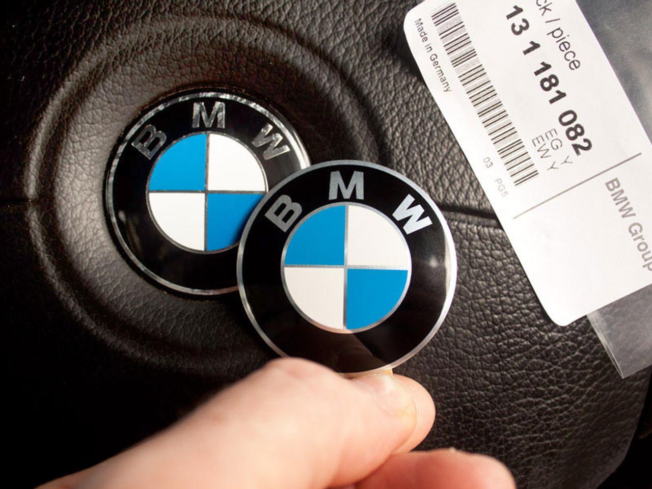 Genuine BMW Steering Wheel Airbag Roundel Emblem, 45mm Self-Adhesive