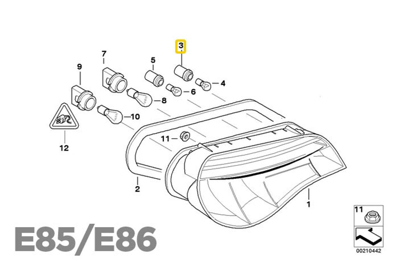 Genuine Tail Light Rear Lamp Socket  BMW Z4 E85 E85 F03 F04 63117407330
