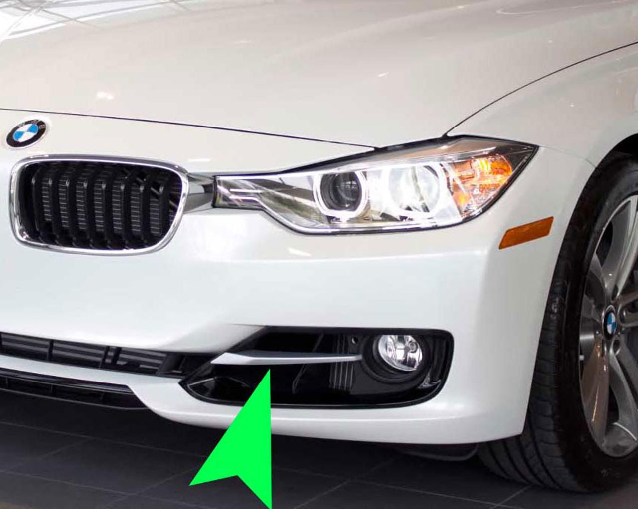 Genuine BMW 3-Series Sport Line Front Bumper Silver Trim Left 51117293105